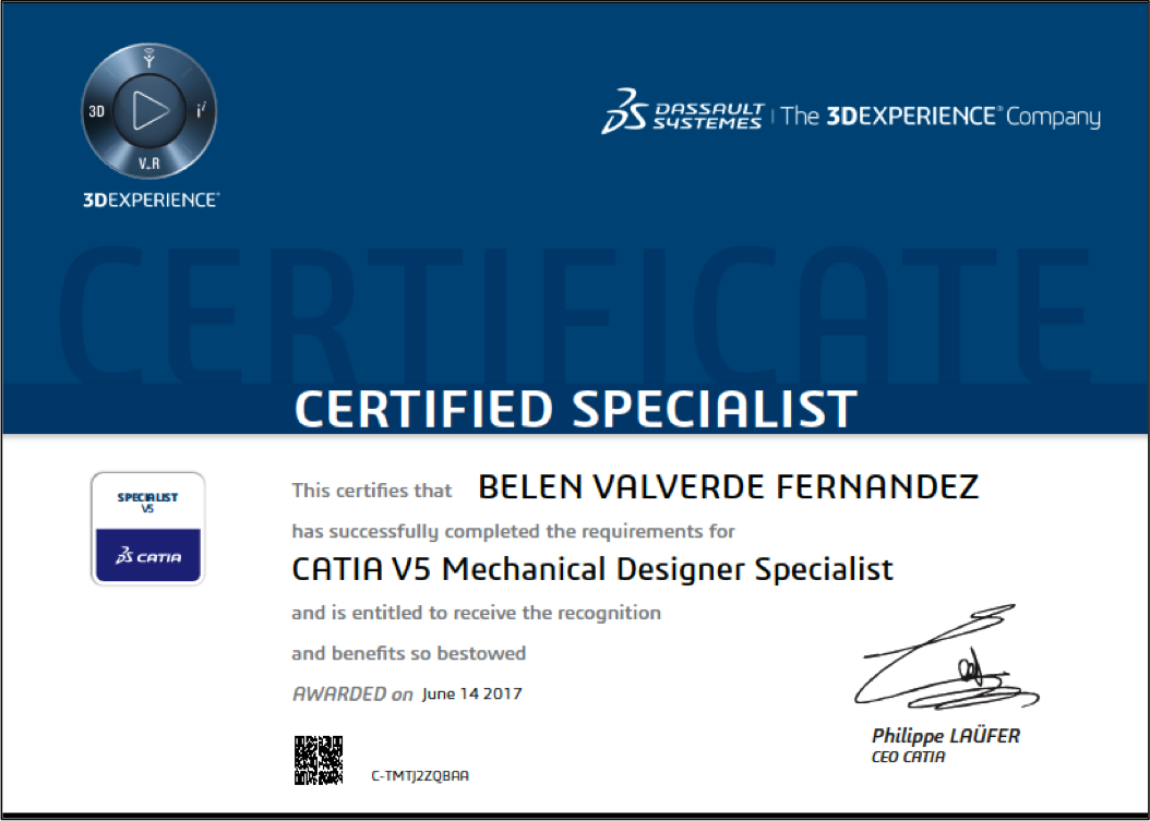 CATIA Mechanical Designer Specialist