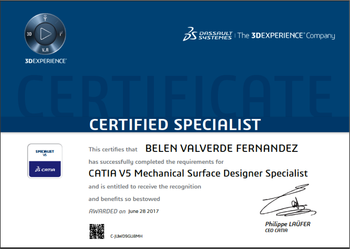 CATIA Mechanical Surface Designer Specialist